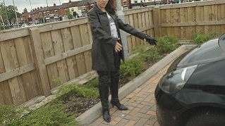 Lucy-leather-boots-jacket-video